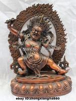 "11"" Tibet Tibetan Buddha Pure Bronze Vajrapani ( Chana Dorje ) Buddha Statue Free Shipping"