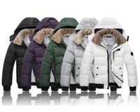 New 2014 Brand Winter Parkas Men White Duck Down Jackets Fashion Men's Cotton Hooded Coat jacket Down & Parka Size M- XXXL