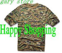 Men Summer Short Sleeve Cotton Military Tactical T Shirt Outdoor Cycling Camping Sports T-shirts Digital Woodland Camo