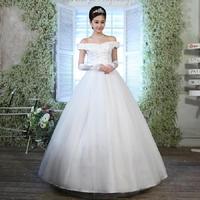 Fashionable Sexy Boat Neck Sweet Elegant Wedding dress 2014 Princess Floor-Length wedding dresses vestidos de noiva gown W69