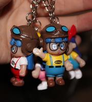 wholesale  new  kpop shinee kawaii cute 20pcs/lot  Cartoon animal Beautiful Arale key chains ring