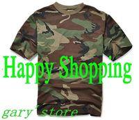 Men Summer Short Sleeve Cotton Military Tactical T Shirt Outdoor Cycling Camping Sports T-shirts Woodland Camo