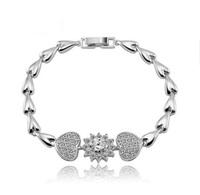 Lovers'  romantic charm bracelet  two heart   bracelet