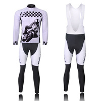 New Cycling Bike Bicycle Clothing Men Sportwear Suit Long Sleeve Jersey +Bib Pants CC0116