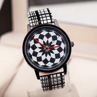 Free Shipping,Promotion Newest Arrival Fashion Diamond Flower Leather Strap Watches,Unisex Men Women Dress Quartz Watches