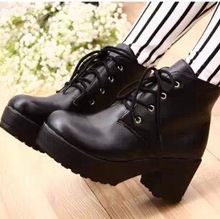 New women boots 2014 fashion Arrival Vogue women motorcycle boots Platform Heel Shoes Ankle Boots for women Drop shipping 687(China (Mainland))