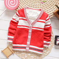Free shipping Children's clothing autumn new arrival 2014 fashion british style child sweater child cardigan