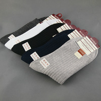 male 100% cotton knee-high short socks spring and summer commercial with free shipping