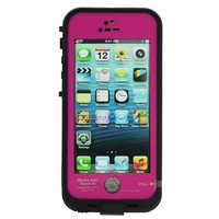 Waterproof Shockproof Fingerprint Scanner Full Case Cover for Apple Iphone 5 5S  (Works w/ Touch ID) - Rose Red