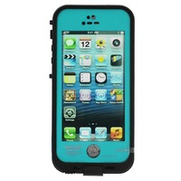 Waterproof Shockproof Fingerprint Scanner Full Case Cover for Apple Iphone 5 5S  (Works w/ Touch ID)  - Teal