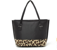 HOT Sale Fashion Leopard Women Handbags Shoulder Bag 2014 New Design Nylon Women's Shopping Bag Casual Totes