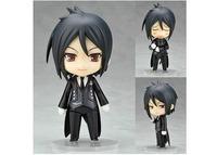 "Free Shipping Nendoroid 4"" Cute Black Butler Sebastian Michaelis PVC Mini Action Figure Toy Doll #68"