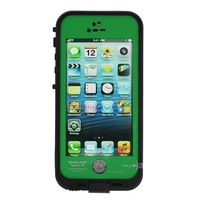 Waterproof Shockproof Fingerprint Scanner Full Case Cover for Apple Iphone 5 5S (Works w/ Touch ID) - Green