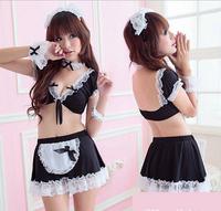 Fetish Sexy Lingerie Hot Set Femininas Fancy Dress French Maid Uniform Princess Cosplay Erotic Halloween Costumes for Women