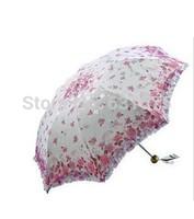 Ultralight triple double lace parasol Paradise  UV sun umbrella    FREE SHIPPING