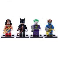 Hot 4 Sets MiniFigures Super Heroes Building Toys Flash Deadpool Blocks Toy 511