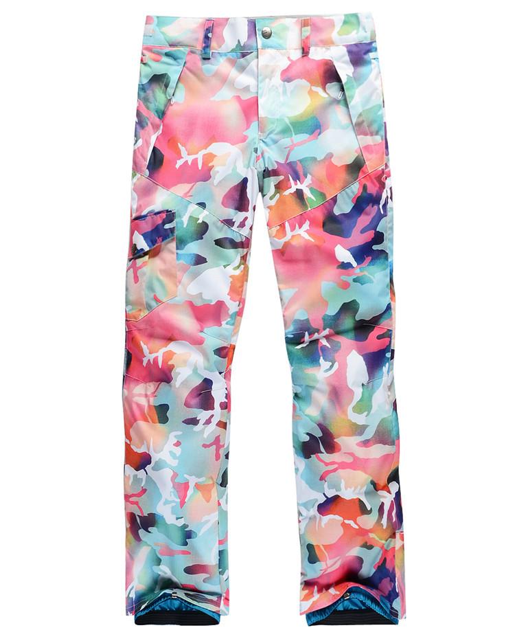 Flower Printed Pants Flower Print Fashion Ski Pants