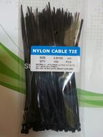 100pcs/lot wholesale 2.5*150mm Self-locking Plastic Nylon Cable Ties Wire Zip Tie