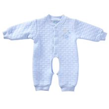 Baby clothes autumn and winter thickening baby thermal  100% cotton newborn bodysuit open-crotch(China (Mainland))