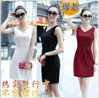 Vestido Vestidos Casual Free Shipping 2014 New Spring Dress Top Factory Direct Authentic Korean Version Of Slim Sleeveless Vest