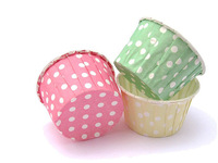 12pcs standard size Baking Cups  Sorbet Polka Dots Greaseproof Cupcake Liners  Treat Cups  Candy Cups