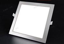 Ultra thin design 3W /4W/ 6W / 9W / 12W / 15W /18W LED ceiling recessed grid downlight / slim square panel light free shipping(China (Mainland))