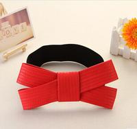 Do promotion ! Big bowknot elastic waistband women's, woman's belt, 2014 fashion belts