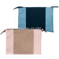 Fashion Ladies Envelope Faux Leather Clutch Bag No Chain Purse Women Handbag Tote Shoulder Bags Blue Brown