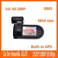 New in 2014 Original Mini 0801 Ambarella Black Box Car DVR A2S70+OV2710 GPS Logger Car Video Recorder Registrator Dash CamCorder