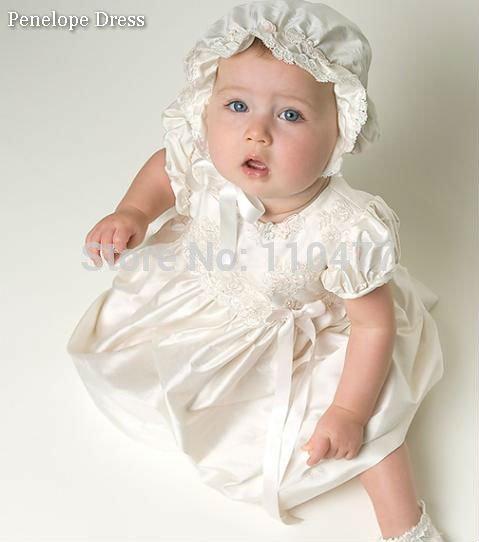 Ivory girls short christening dress baby ball gown hs247 baptism