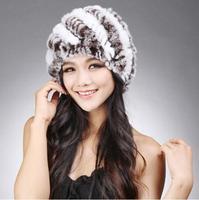Hot sale !!! Women winter rex rabbit fur hat kint Genuine rex Rabbit fur Cap Headgear Fashion cap Free Shipping TPHR0005