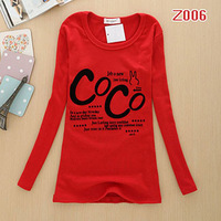 Free Shipping Cheap Female's Cotton Slim O-neck Long T-shirt Fashion Trendy Women Clothes Tops Tees T-shirt Dropshipping #C0342
