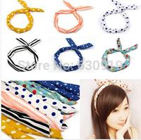 Wholesale 10pcs mix style Cute Korea Korean Girl Rabbit Ear Ribbon Chiffon Headband Hair Band