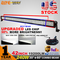 USA STOCK ! 4PCS 42 INCH 240W LED LIGHT BAR COMBO BEAM LED DRIVING LIGHT FOR OFFROAD ATV 4x4 TRUCK  SAVED ON 180W /240W