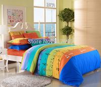 Designer Music Note Comforters Elegant Colorful Rainbow Bedding Set Modern 100% Cotton Kids Character Music Note Bedding Set