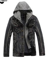 2014 Brand New Men Winter Outerwears Coats Thick Fur Lining Jackets Hooded Warm Denim Jacket Men Plus Size 3XL XXXL