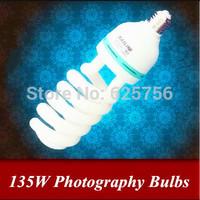 Free shipping + 135W E27 Spiral 5500K Photography Light Video Light Ring Light Studio Flash Bulb for Studio Strobe Photo Studio