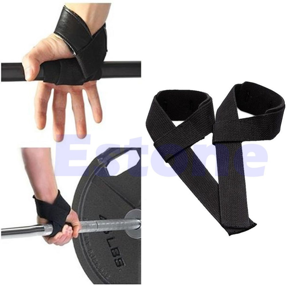 U119 Free Shipping Black Wrist Support Gloves Wrap Hand Bar Straps For Weight Lifting Training Gym(China (Mainland))