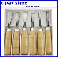 Woodpecker six sets PMB306 authentic handmade wood engraving cutter knife wood chisel chisel