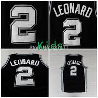 Leonard Kids Jersey ,San Antonio #2  Kawhi Leonard Black Rev 30 Basketball Jersey For Kids ,Size: S-XL,Free Shipping