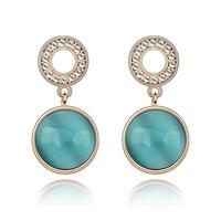 Fashion Elegant Crystal Brief Women Opal Earring 4 Colors