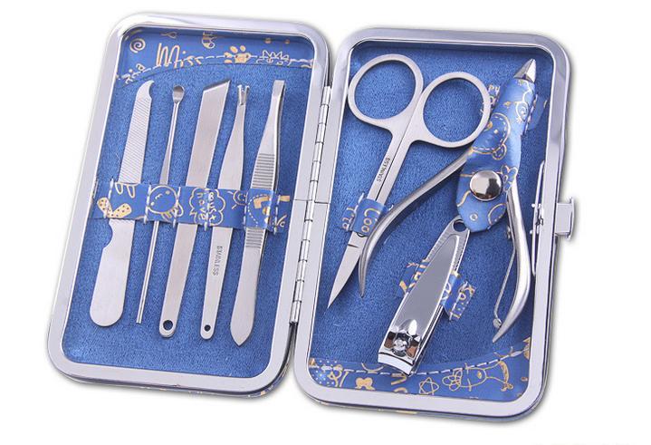 8 set manicure pedicure kit pinze editionnail set per la cura utilità kit per unghie clipper in acciaio inox strumenti manicure set