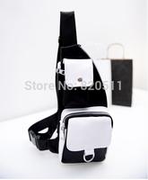 GO FASHION Solid Zipper Messenger Bag Chest Bag  Unisex Pocket Wholesale