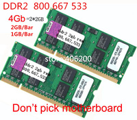 (FOR ALL board) DDR2 800,667,533MHZ laptop ram,1GB,2GB,4GB(2*2GB) ddr2 2gb ram for all laptop