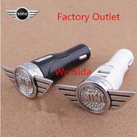 Free shipping mini Mini Cooper car standard car cigarette lighter dual USB Car Charger