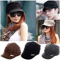 Hot Sale Korean Version Spring and Winter Gorro Cap Lady's Fashion Drape Delicate Women Men Hats 3 Color  Free Ship CW05012