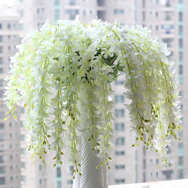 Hot Sale Romantic Artificial Wisteria Silk Flower Home Party Wedding Garden Floral Decoration Drop Shipping HG-091990(China (Mainland))