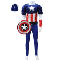 adult america captain costume superman costume halloween costume  for party  cosplay costume carnival dress