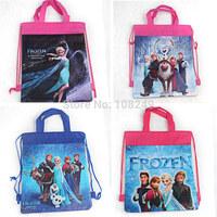 Frozen Backpacks Shopping Bags Drawstring Bags Frozen Cartoon Princess Backpacks Children School Bags Kids' Bags Free Shipping