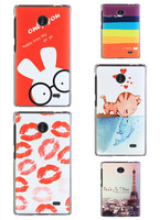 for Nokia X case,cartoon rabbit cat fish tower sey lips girl rainbow bus colored drawing hard case for Nokia X/Normandy/A110